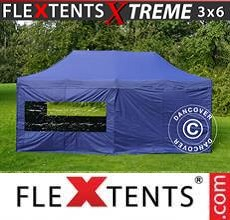 Carpa plegable FleXtents  Xtreme 3x6m Azul oscuro, Incl. 6 lados