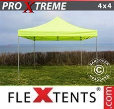 Carpa plegable FleXtents Xtreme 4x4m Amarillo Flúor/verde