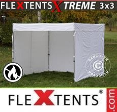 Carpa plegable FleXtents Xtreme Exhibition con muros laterales, 3x3m,