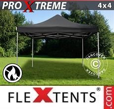 Carpa plegable FleXtents Xtreme 4x4m Negro, Ignífuga