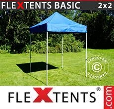 Carpa plegable FleXtents Basic v.2, 2x2m Azul