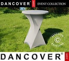 Cubierta flexible para mesa, Ø80x110cm, Gris