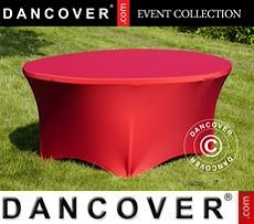 Cubierta flexible para mesa, Ø152x74cm, Rojo