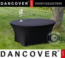 Cubierta flexible para mesa, Ø152x74cm, Negro