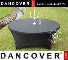 Cubierta flexible para mesa, Ø183x74cm, Negro