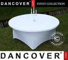 Cubierta flexible para mesa, Ø183x74cm, Blanco