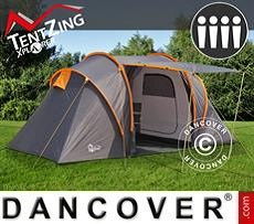 Tienda de campaña, TentZing® Xplorer familiar, 4 personas, Naranja/Gris oscuro