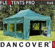 Flextents Carpas Eventos  PRO 4x6m Verde, Incl. 8 lados