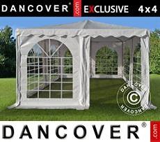 Pagoda Partyzone 4x4m PVC, Blanco