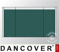 Muro hastial UNICO 3m con puerta estrecha, Verde oscuro