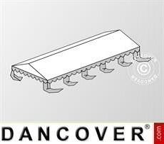 Cubierta para el techo para Carpa para fiesta Original 5x10m PVC, Blanco/Gris