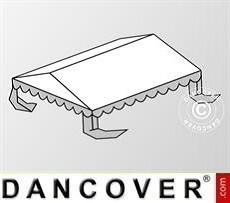 Cubierta para el techo para Carpa para fiesta Plus 4x6m PE, Blanco/Gris