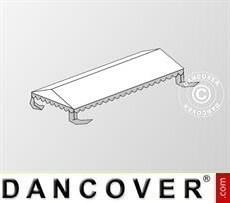 Cubierta para el techo para Carpa para fiesta Plus 4x10m PE, Blanco/Gris