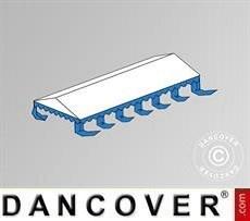 Cubierta para el techo para Carpa para fiesta Exclusive 6x12m PVC, Blanco/Azul