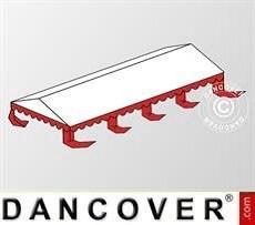 Cubierta para el techo para Carpa para fiesta Original 6x8m PVC, Blanco/Rojo