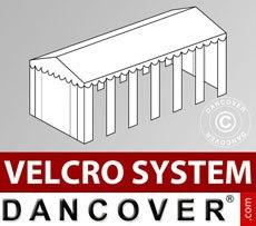 Cubierta para tejado con velcro para carpa SEMI PRO Plus CombiTents® de 6x12m, Blanco