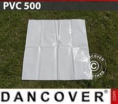 PVC para reparación de carpa para fiestas, 500g/m², 1x1m, Blanco