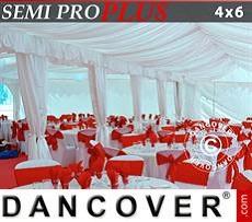Pack de forro y pata para cortina, Blanco, para carpa de 4x6m SEMI PRO Plus