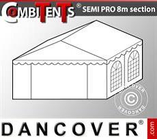 Extensión de tramo final de 4m para CombiTent Semi PRO, 8x4m, PVC, Blanco