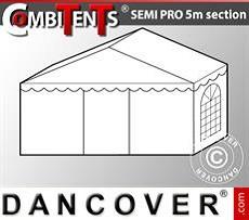Extensión para tramo final de 2 m para CombiTents® Semi PRO, 5x2m, PVC,