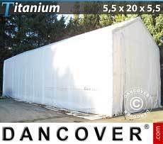 Carpas de Almacén 5,5x20x4x5,5m, Blanco
