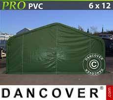 Carpas de Almacén 6x12x3,7m PVC, Verde