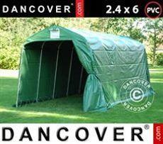 Carpa de almacenamiento PRO 2,4x6x2,34m PVC, Verde