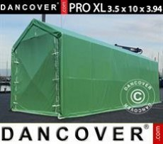 Carpa grande de almacén PRO XL 3,5x10x3,3x3,94m, PVC, Verde