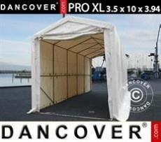 Carpa grande de almacén PRO XL 3,5x10x3,3x3,94m, PVC, Blanco