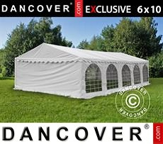 Carpa para fiestas 6x10m PVC, Blanco