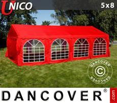 Carpa para fiestas UNICO 5x8m, Rojo