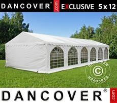 Carpa para fiestas 5x12m PVC, Blanco