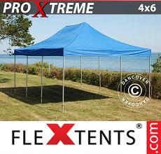 Carpa plegable FleXtents 4x6m Azul