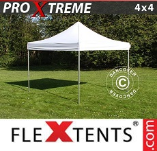Carpa plegable FleXtents 4x4m Blanco