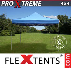Carpa plegable FleXtents 4x4m Azul