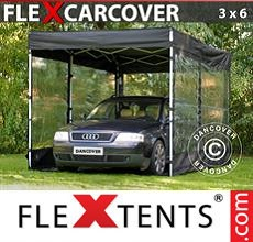 Carpa plegable FleXtents 3x6m, Negro