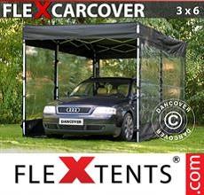 Carpa plegable FleXtents 3x6m, Negro