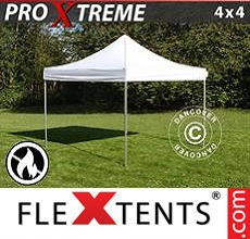 Carpa plegable FleXtents 4x4m Blanco, Ignífuga