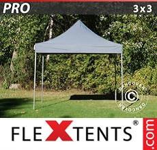 Carpa plegable FleXtents 3x3m Gris
