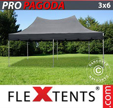 Carpa plegable FleXtents 3x6m Negro