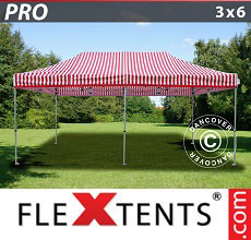 Carpa plegable FleXtents 3x6m rayado