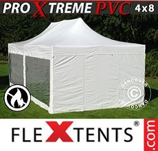 Carpa plegable FleXtents 4x8m blanco, Incl. 6 lados