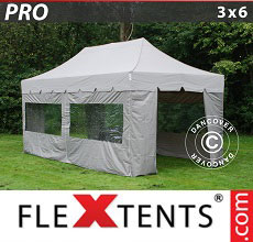 Carpa plegable FleXtents 3x6m Latte, incl. 6 lados