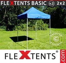 Carpa plegable FleXtents 2x2m Azul