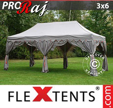Carpa plegable FleXtents 3x6m Latte/Naranja