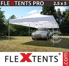 Carpa plegable FleXtents 2,5x5m Blanco