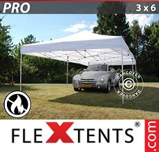 Carpa plegable FleXtents 3x6m Blanco, Ignífuga