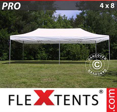 Carpa plegable FleXtents 4x8m Blanco