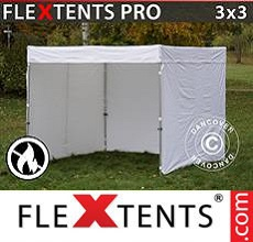 Carpa plegable FleXtents 3x3m, Blanco,...