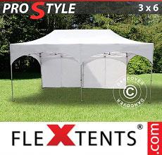 Carpa plegable FleXtents 3x6m Blanco, Incl. 6 lados
